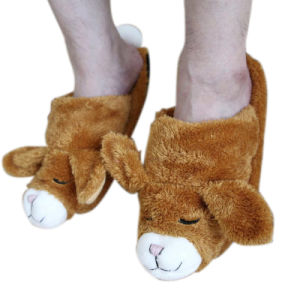 Hot Cold Ice Gel Pack for Pain Relief Beneficial to Human Body Health Animal Rabbit Toy Slipper (p20106-B)