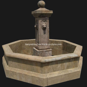 Lion Head Pool Fountain, Antique Marble Carving (HAT001) pictures & photos