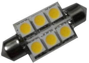 LED Festoon Bulb, Auto Bulb, 10-30VDC, 6SMD