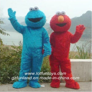 Mascot Costume: Elmo and Cookie Monsters (long long fur) . (FLMC-45)