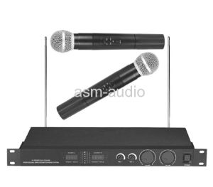 Professional 2 Channel UHF Wireless Microphone Speaker System pictures & photos