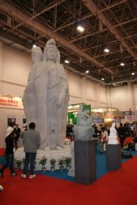 White Granite Buddha Statue (17)