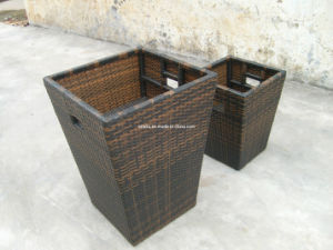 Outdoor Leisure Wicker Rattan Tall Plants Flower Boxes pictures & photos