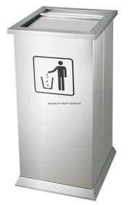 Stainess Steel Dustbin/ Garbage Bin/ Litter Bin for Shopping Mall (DK110) pictures & photos