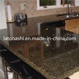 Prefabricated Natural Stone Verde Uba Tuba Granite Countertop Kitchen Top pictures & photos