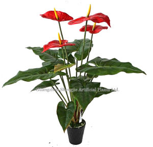 Artificial Real Touching Red Palm (for office/indoor decoration)