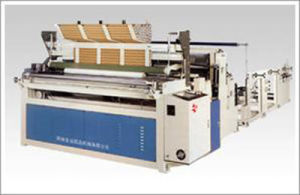 Toilet Paper Rewinder Tissue Rewinding Perforating and Embossing Machine pictures & photos