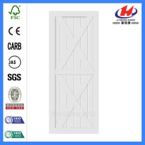 Wood Real Painted Solid Wood Barn Doors (JHK-SK11) pictures & photos