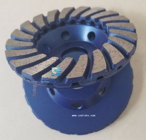 Cold-Pressed Single Row Cup Grinding Wheel pictures & photos