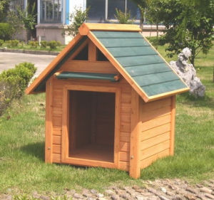 2017 Winter Wooden Pet House Doghouse Kennel pictures & photos