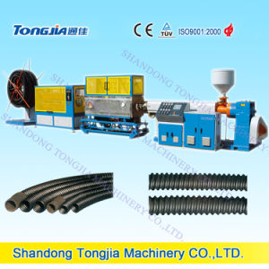 PE Carbon Fiber Screw Pipe Extrusion Line pictures & photos