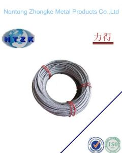 6*7+FC Ungalvanzied and Galvanized Steel Rope, Chinese Steel Wire Rope pictures & photos