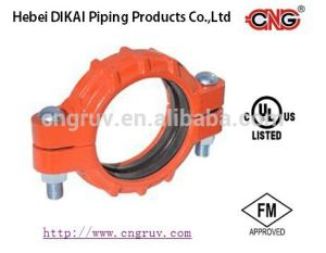FM /UL Approved Heavy Duty Flexible Coupling Ductile Iron Grooved Pipe Fitting pictures & photos