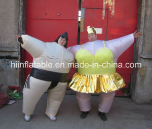Customized Moving Cartoon Inflatable Sumo for Advertising