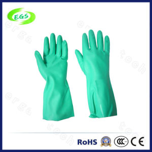 Green Nitrile Unlined Household Gloves pictures & photos