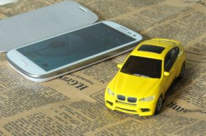 Portable Wireless Sport Car Shape 5600mAh Power Bank ,Smartphone Mobile Charger