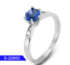 Wholesale New Design Fashion Jewelry 925 Sterling Silver Diamond Solo Ring for Women pictures & photos