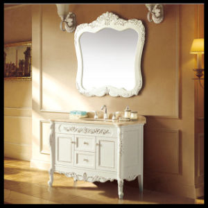 Wood Single Bow Anique Bathroom Solid Wood Cabinet
