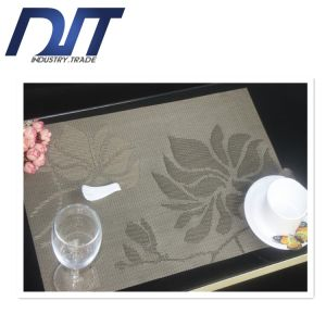 Lotus Pattern Environmental Protection Easy Cleaning Insulation Non-Slip PVC Placemat pictures & photos