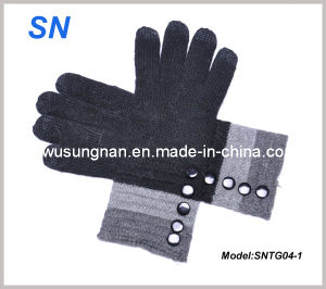 Lady′s iPad Wool Smartphone Touch Warm Gloves pictures & photos