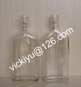 180ml ~300ml Flat Alcohol Glass Bottles, Wine Glass Bottle, Glass Wine Bottle, Grain Spirit Glass Bottles with Screw Cap