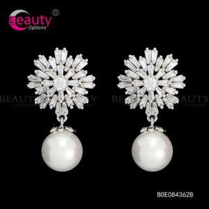 Wholesale Luxury Diamond Pearl Earring for Wedding