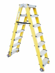 35kv Yellow Fiberglass Portable and 9-Step Ladder pictures & photos
