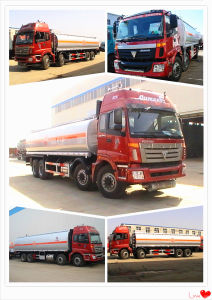 Foton Oil Transportation Tank Truck 26cbm 28cbm 30cbm Crude Oil Fuel Tanker Truck pictures & photos