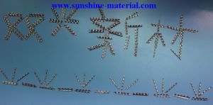 Chinese Manufacturer Slit Sheet Stainless Steel Fibers for Concrete and Building Materials