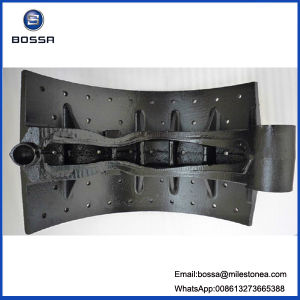 Casting Brake Shoe with 15holes Oil Type for Truck Trailer for Nissan pictures & photos