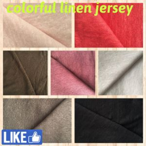 Linen Jersey Fabric for T-Shirts (QF14-1546-solid) pictures & photos