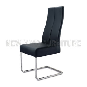Modern Luxurious Chrome Steel Foot PU Leather Dining Chair (NK-DC041)
