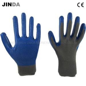 Nitrile Coated Labor Protective Industrial Safety Work Gloves (NS002) pictures & photos