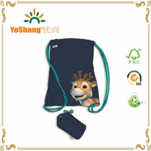Eco-Friendly Heat Transfer Printing Sports Traval Backpack Drawstring Tote Shopping Nylon Bag pictures & photos