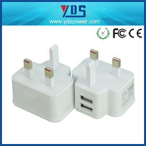 UK Double USB 5V 2A Wall Charger pictures & photos