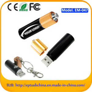 Battery Shaped Metal Memory Disk USB Flash Drive for Promotion (EM047) pictures & photos