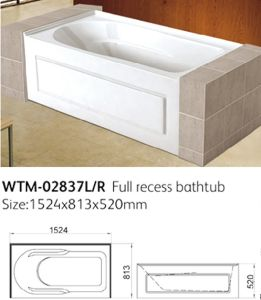 cupc sterling apron front bathtub