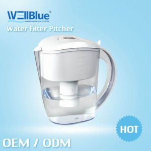 Wellblue Enhanced Ion Exchange Resin Drinking Water Purifier Pitcher with FDA, CE, RoHS (L-PF601)
