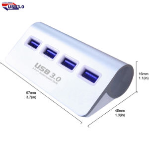 USB3.0 4 Port Superspeed Hub with LED Light pictures & photos