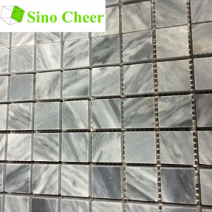 Square Italian Grey Cararra Marble Mosaic Tile Pattern pictures & photos