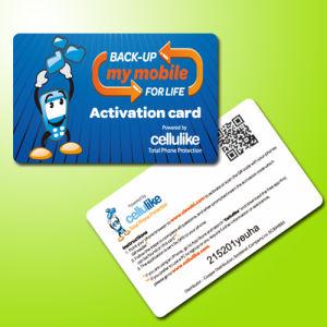 85.5*54mm Plastic Qr Code Barcode Card