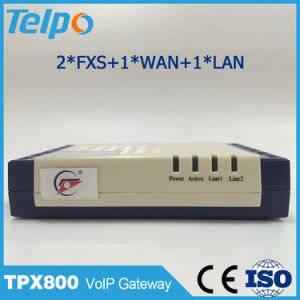 Made in China High Quality Support Local Switch SIP FXS ATA VoIP 2 Pots pictures & photos
