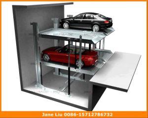 Two Post Pit Double Platform Garage Car Parking Lift Underground pictures & photos