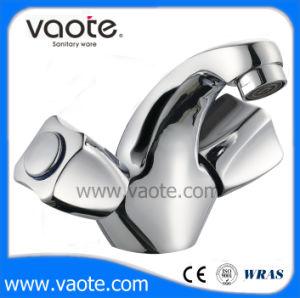 Double Handle Brass Body Basin Mixer (VT60903) pictures & photos