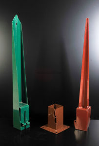 Powder Coated Steel Pole Anchor Pile Box pictures & photos