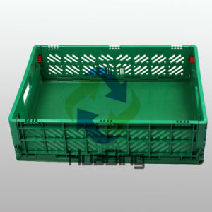 Multi-Purpose Virgin and Recycled Stackable Plastic Basket Crates Virgin and Recycled Collapsible Plastic Crate pictures & photos