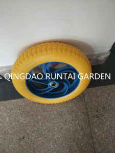 Qingdao Made High Quality Durable Cheap PU Wheel (3.00-8) pictures & photos