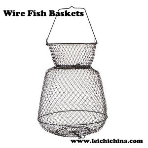 High Quality Collapsible Wire Fish Baskets pictures & photos
