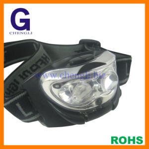 "13000mcd 2white LED + 1red LED LED Head Lamp with 3PCS X 1.5V ""AAA"" Size Battery (LA200)"