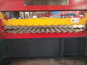 Hydraulic Motor Aluminum Corrugated Roof Sheet Making Machine pictures & photos